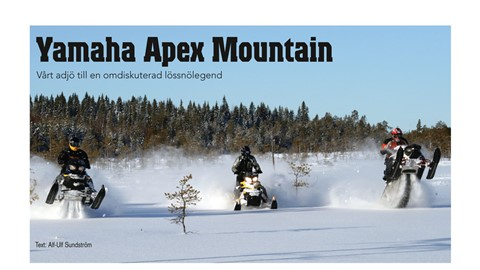 Yamaha Apex Mountain