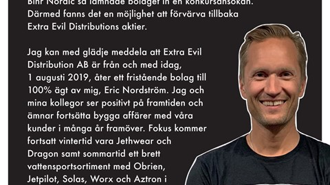 Extra Evil Distribution AB under nytt ägarskap